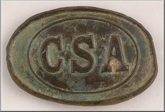 fakes  csa oval buckle  confederate plate 161