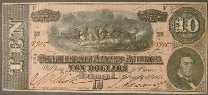 Ridgeway Reference Archive Currency Confederate 1864