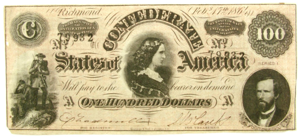 Ridgeway Reference Archive, Currency, Confederate 1864